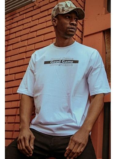 XHAN Beyaz Önü & Arkası Baskılı T-Shirt 1Kxe1-44603-01 Beyaz